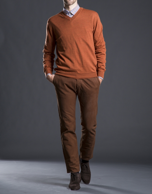 Basic orange knit sweater