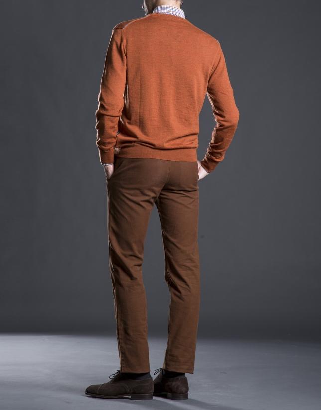 Basic orange knit sweater