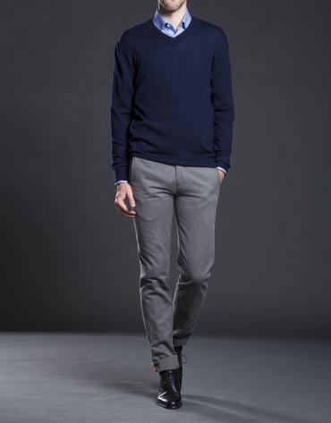 Basic navy blue knit sweater