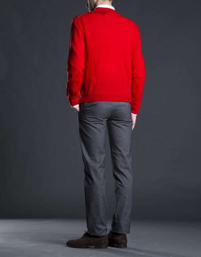 Jersey punto básico rojo