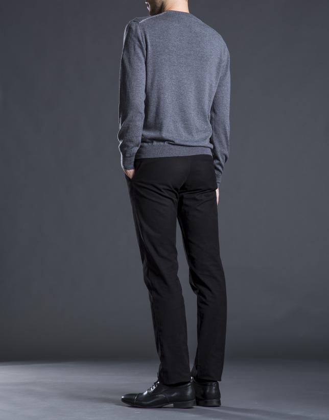 Jersey punto básico gris