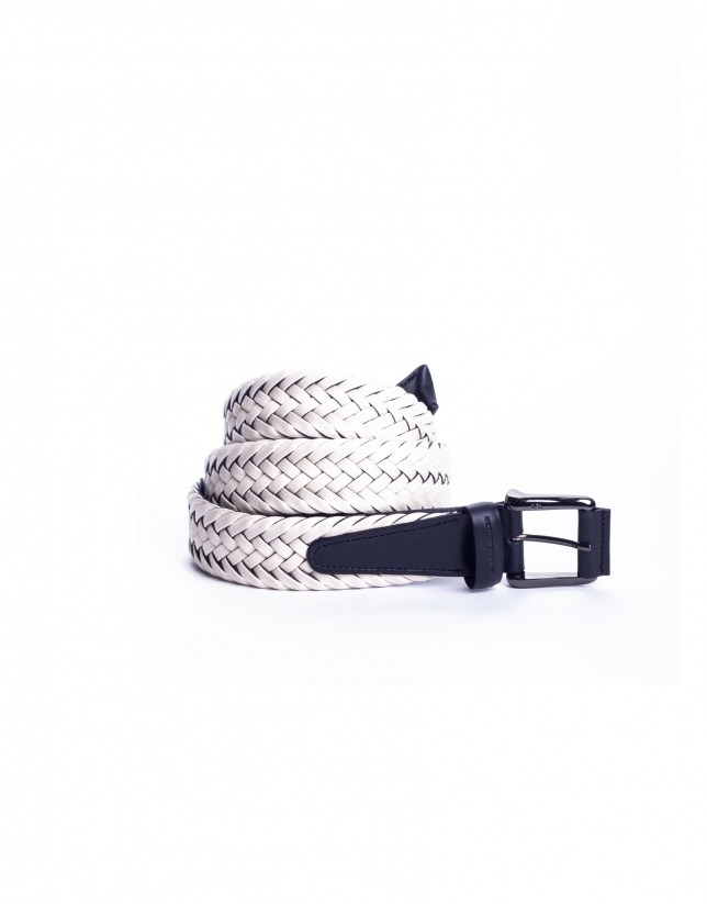 Off white braided belt