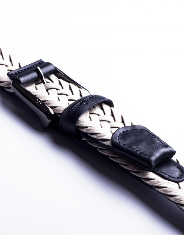 Off white braided belt