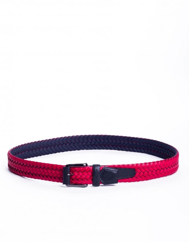 Cinturón trenzado rojo
