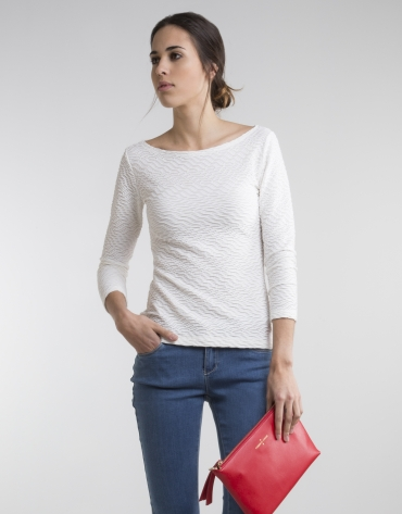 Camiseta punto beige