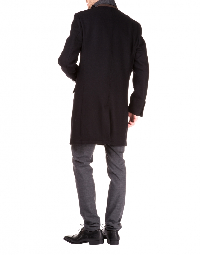 Coat with removable vest