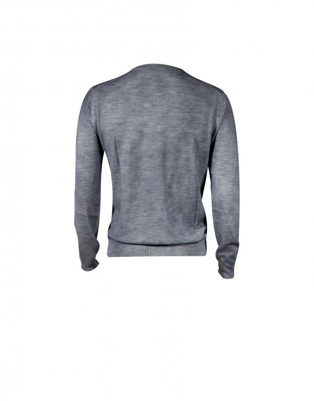 Jersey 100% lana spray en azul