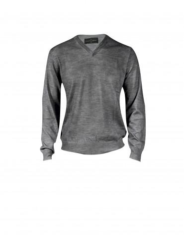 Grey v neck pullover