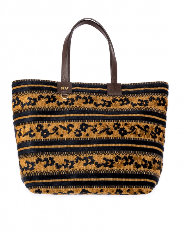 Uve jacquard fabric shopping bag