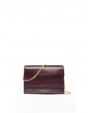 Burgundy leather Jour Nuit clutch / shoulder bag