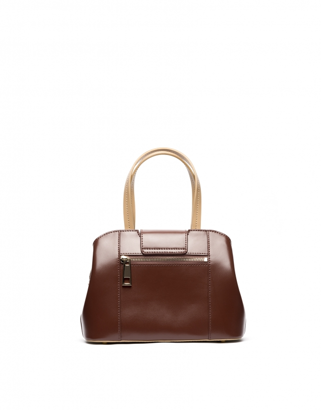 Brown leather  Ryan mini satchel