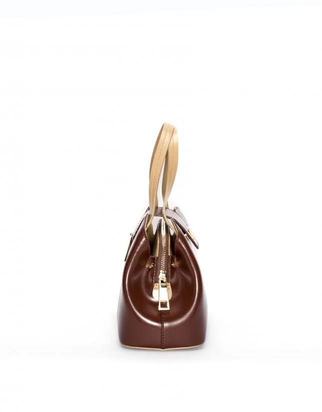 Bolso satchel nano piel marrón Ryan