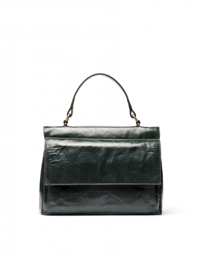 Green leather Noor doctor's bag