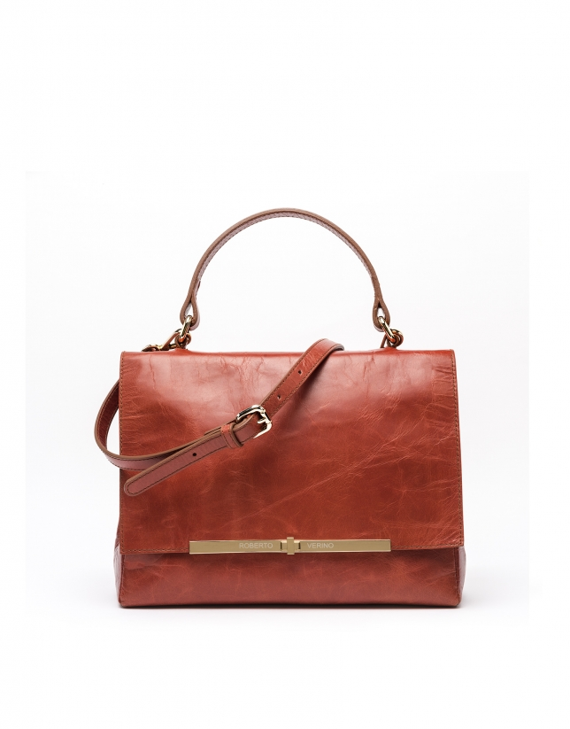 Terra cotta leather Noor doctor's bag