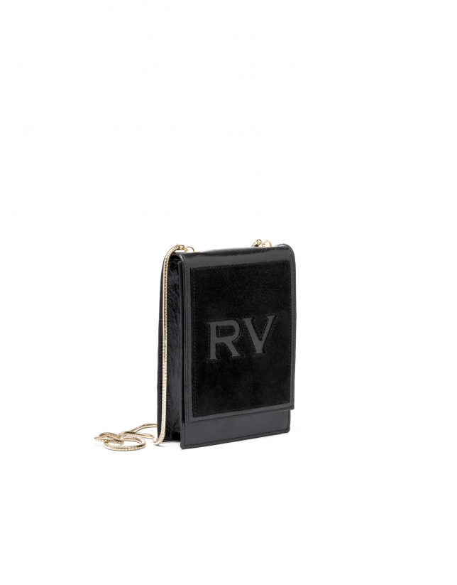 Black leather mini Eme shoulder bag