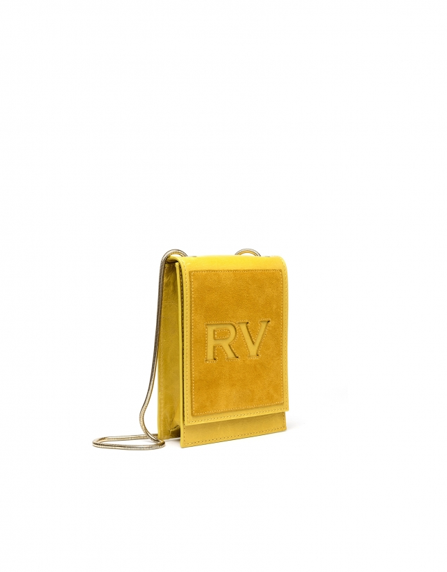 Mustard leather mini Eme shoulder bag
