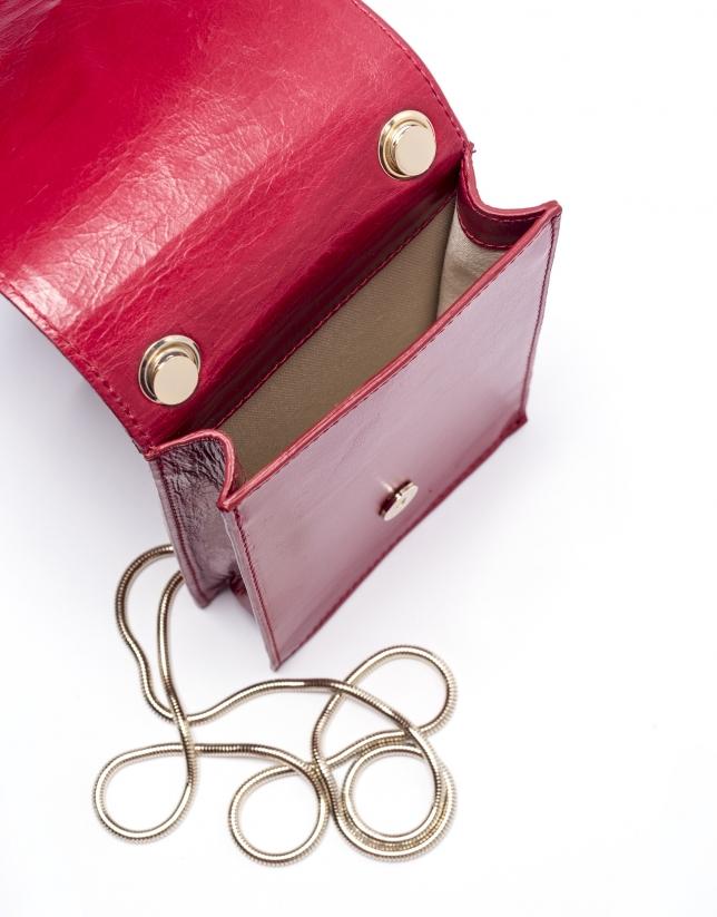 Red leather mini Eme shoulder bag