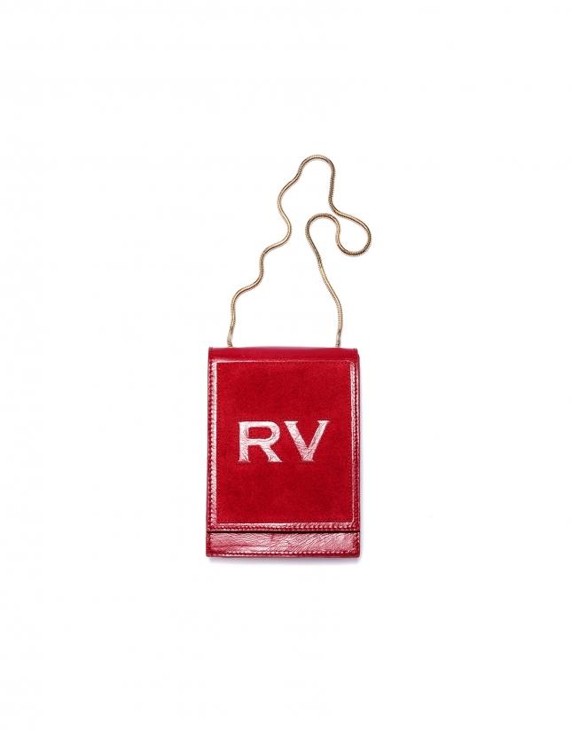 Mini sac à bandoulière Eme en cuir rouge