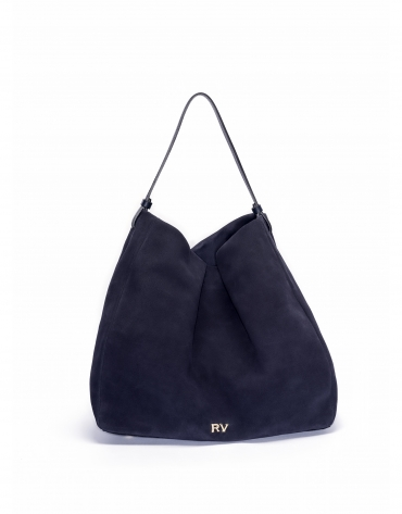Blue suede hobo cube