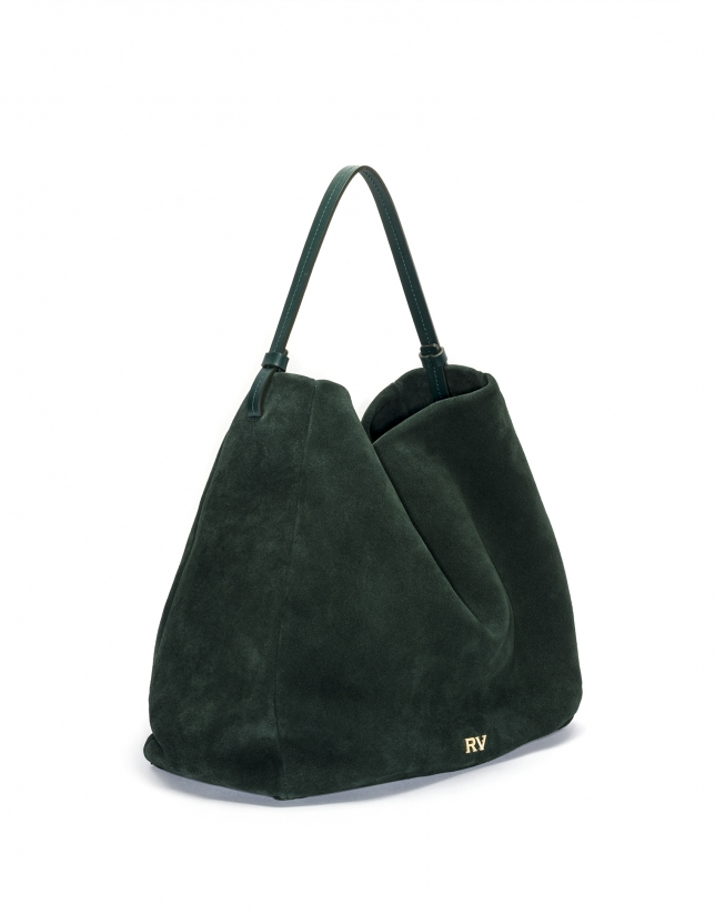 Green suede hobo cube