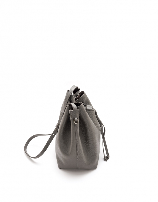 Gray Uve leather bouquet bag