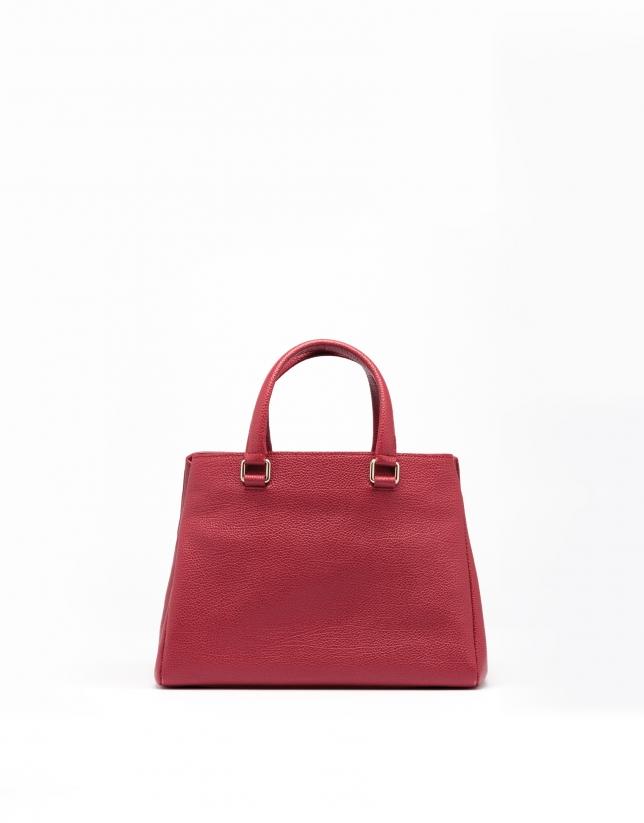 Bolso mini tote piel rojo oscuro Versalles