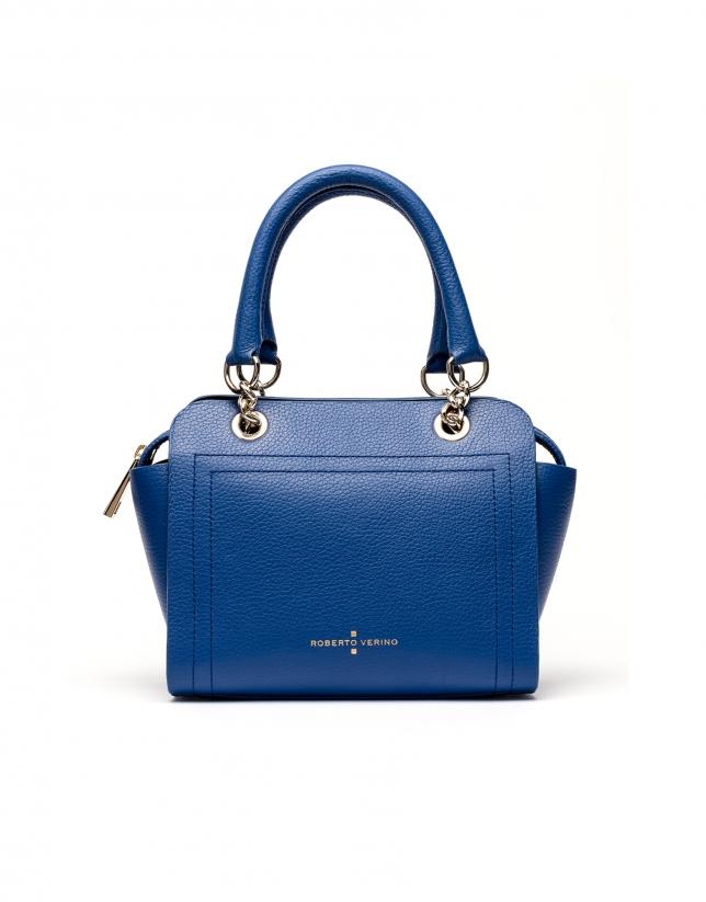 Bolso satchel piel saffiano azul klein Romeo mili