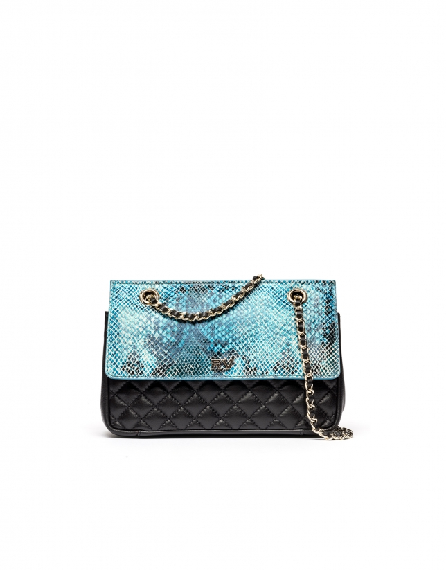 Embossed snakeskin Ghauri shoulder bag