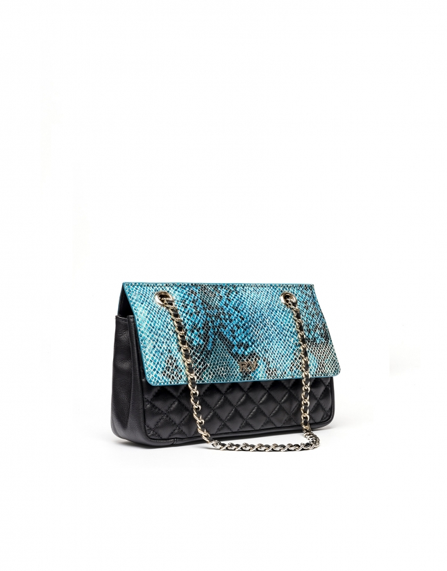 Sac shoulder Ghauri en cuir imprimé serpent