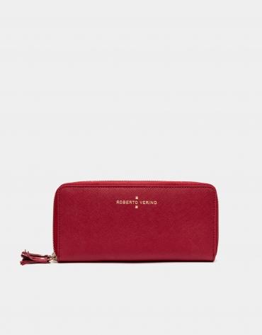 Red earth Saffiano leather mega billfold