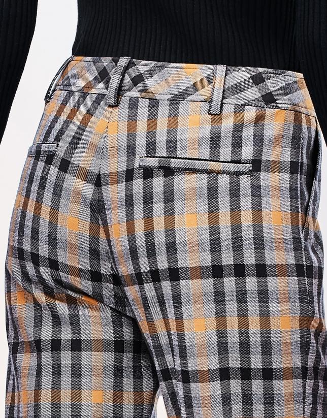 Brown checked pants