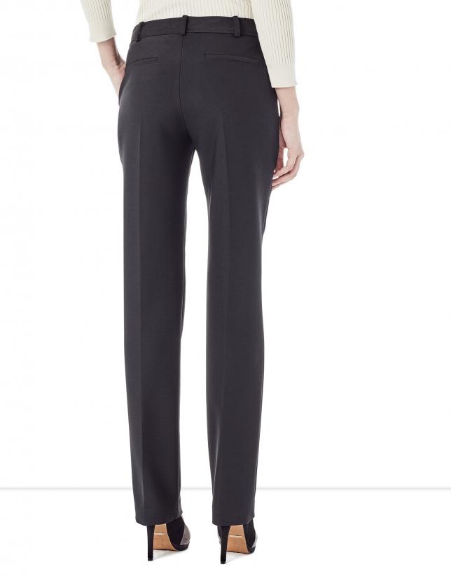 Black crepe pants