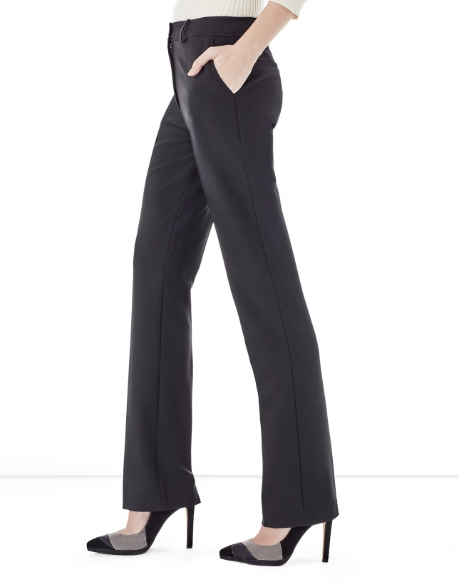 Black crepe pants