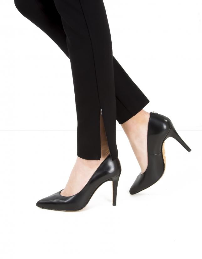 Pantalon zippé noir