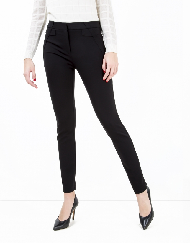 Black pants with zippers