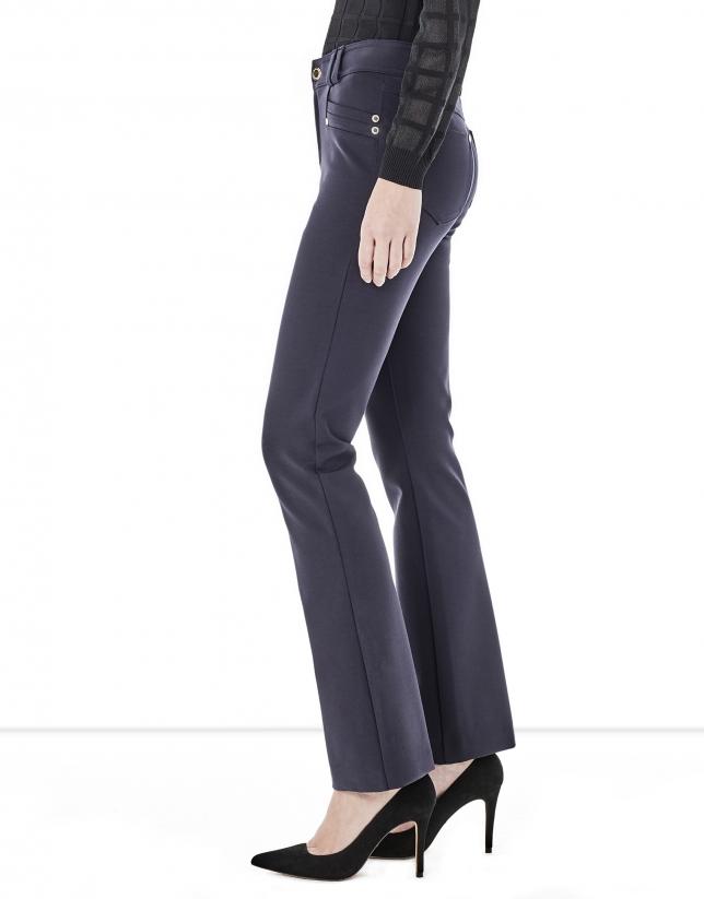 Pantalon évasé bleu