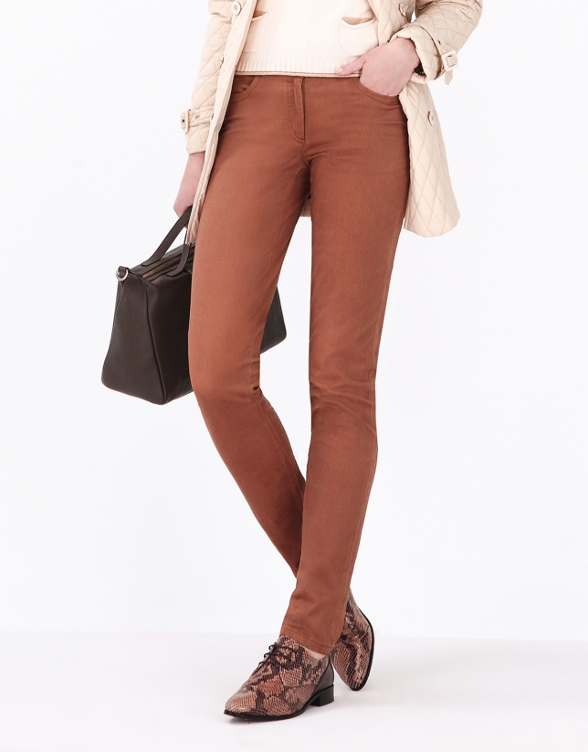Camel pants with 5 pockets