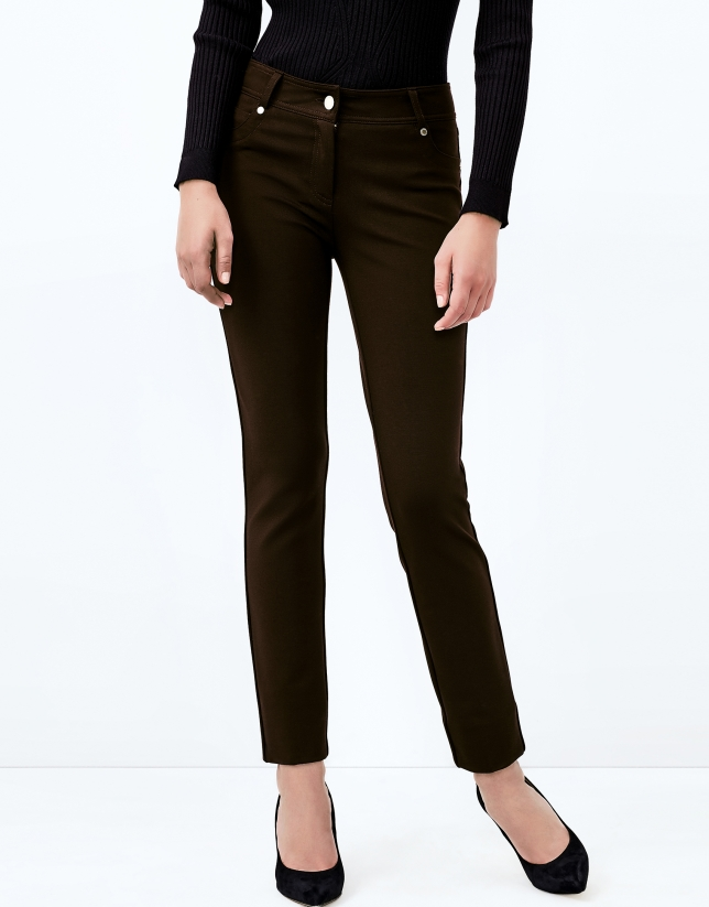 Brown pants with 5 pockets