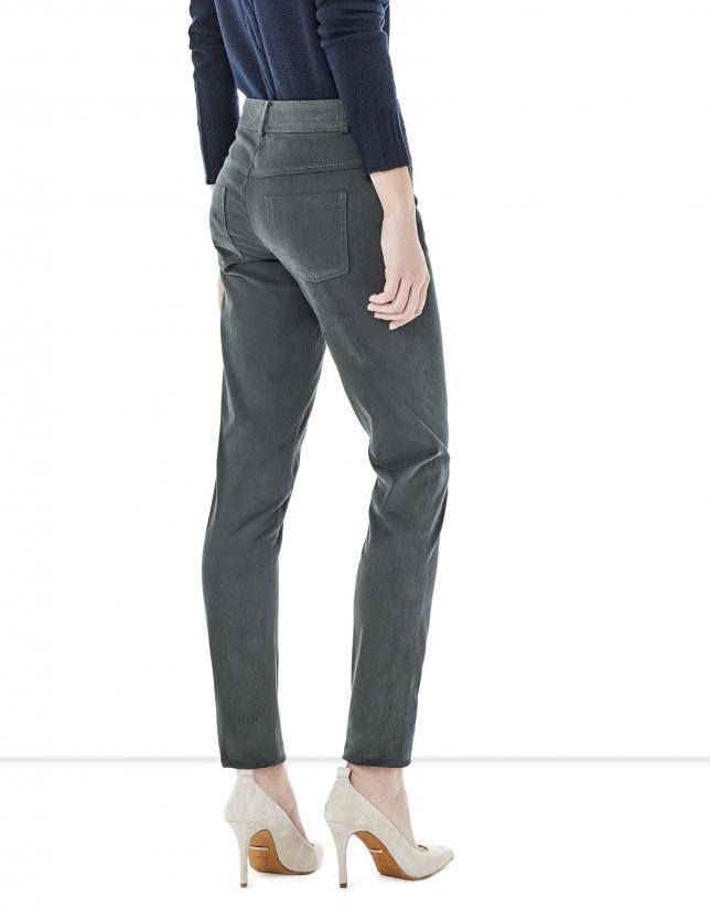Pantalon cinq poches vert