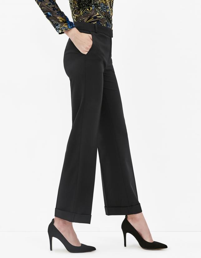 Pantalón smoking negro