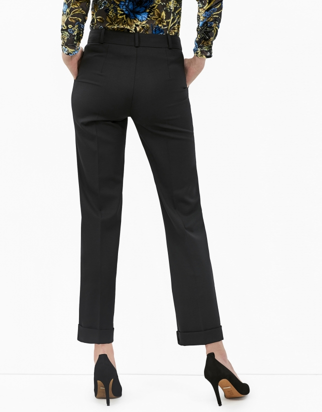 Pantalon de smoking noir