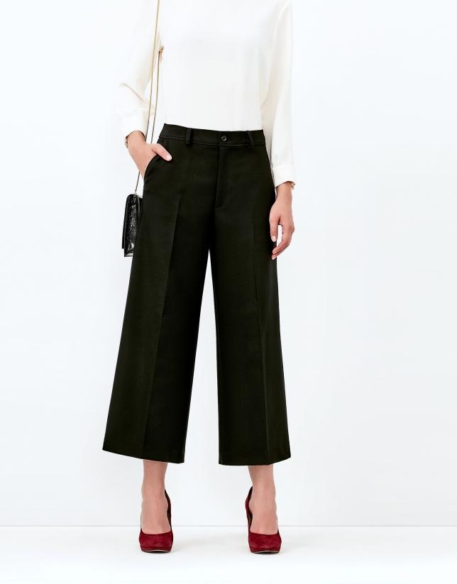 Jupe-culotte noire
