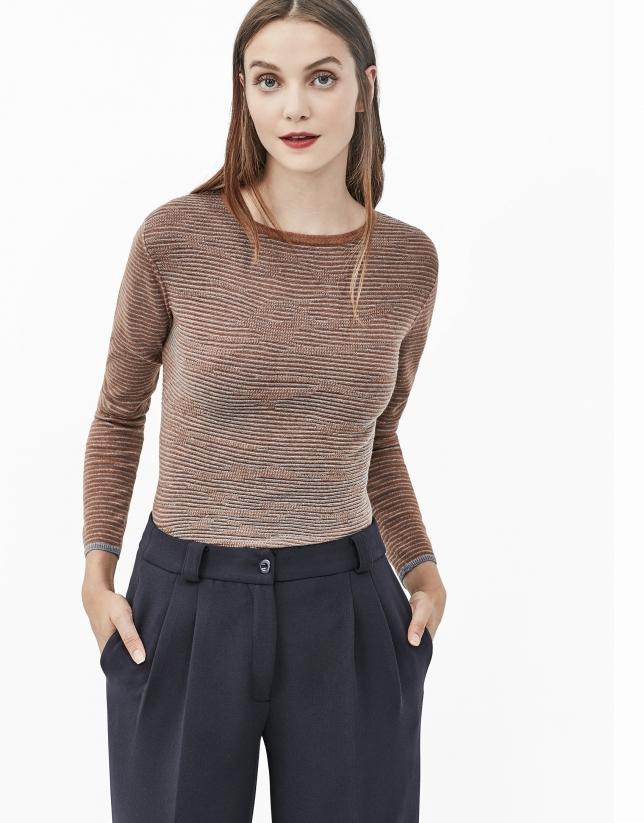 Pantalón culotte azul