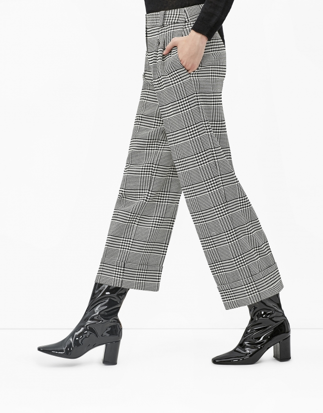 Hounds tooth culottes