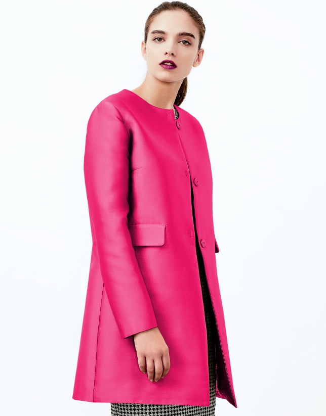 Manteau court pink