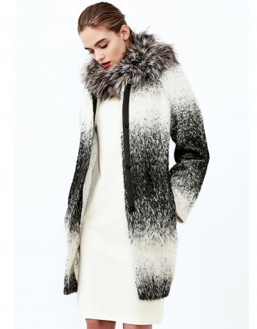 Black/Grey degradé coat