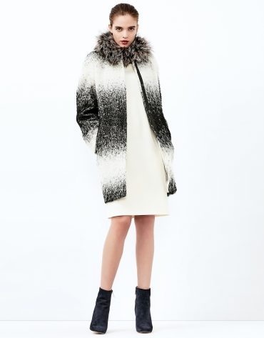 Black/Grey degradé coat