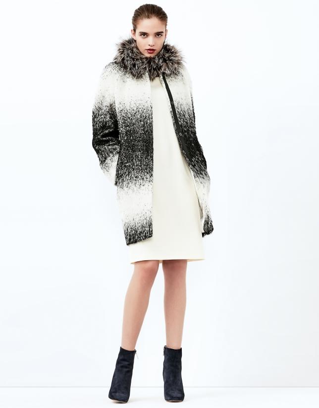 Manteau dégradé noir/gris