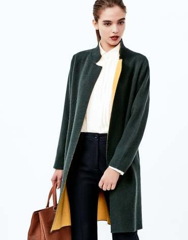 Green knit coat