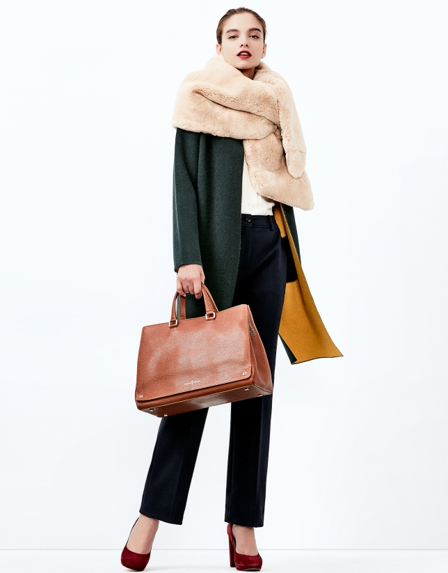 Green knit coat